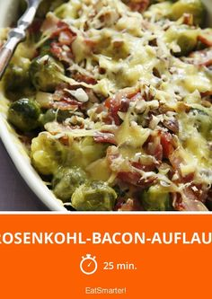 Brussels sprouts and bacon casserole eatsmarter.de Brussels sprouts and bacon casserole eatsmarter. Roasted Garlic Brussel Sprouts, Brussel Sprout Salad, Brussels Sprouts, Green Salad Recipes, Healthy Salad Recipes, Healthy Brussel Sprout Recipes, Bacon Salad, Sprouts With Bacon, Bacon Recipes