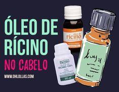 Óleo de rícino (óleo vegetal de mamona) é usado para tratar o couro cabeludo e os fios de cabelo. Beauty Makeup, Hair Beauty, Roche Posay, Coco, Long Bob, Mascara, Curly Hair Styles, Cool Hairstyles, Hair Care