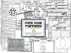 First Grade Fairytales  Mind Your Manners based on Common Core