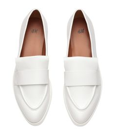 Platform loafers in imitation leather with moccasin seam at front. | H&M Shoes