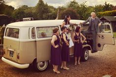 All aboard for a campervan wedding!