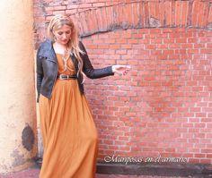 Mariposas en el armario: Vestido maxi de Mango con cazadora perfecto, estil...