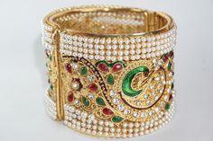 Have An Inquiring Mind Traditional Bracelet Bollywood Churi Goldplated 2 Pcs Bangle Set Fashion Jewelry Bridal & Wedding Party Jewelry