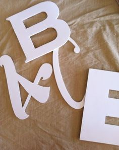 foam board letters- made with a silhouette!!  Awesome!