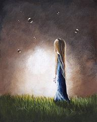 Angels Paintings - Heaven Heard Her Prayers Tonight by Shawna Erback by Shawna Erback