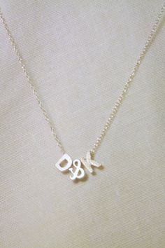 Personalized Couples necklace  ladies by JulieButlerCreations, $22.00