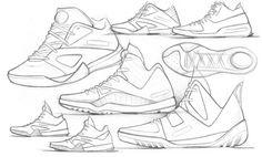 Footwear Sketches! by Dylan Schibanoff, via Behance