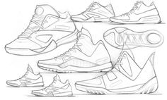 Footwear Sketches! by Dylan Schibanoff, via Behance