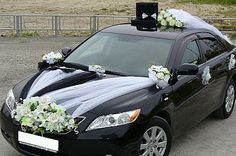decoracion de carro para boda - Buscar con Google Diy Wedding Flowers, Wedding Pics, Perfect Wedding, Dream Wedding, Just Married Car, Bridal Car, Wedding Car Decorations, Ideas Para Fiestas, Wedding Inspiration