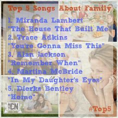 #Top5 songs about family. Which one hits home for you? #MyCountryNation