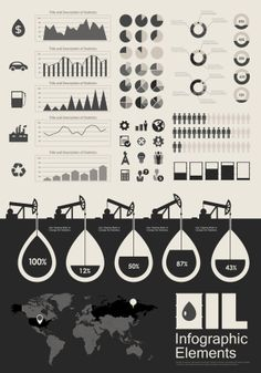 Petroleum Industry Infographic Template.