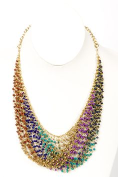 Great statement necklace - great for a white or denim shirt.