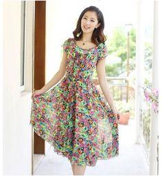 NEW Summer Women Floral Beach Boho Maxi Sundress Long Irreguler Dress