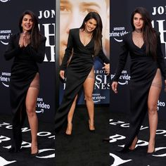 Priyanka Chopra , Danielle Jonas ,Sophie Turner became the hottest cheerleaders for their husbands at Premiere of Jonas Brothers Documentary Chasing Happiness - HungryBoo Danielle Jonas, Nick Jonas, Black Satin Dress, Metallic Dress, Men's Fashion Brands, Fashion Models, Drop Everything And Read, Wedding Of The Year, Hot Cheerleaders