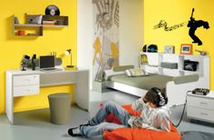 The yellow adds attitude and brightens up the room!