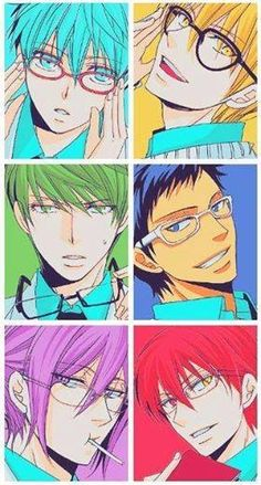 -KurokoNobasket- ¡!Kuroko,Aomine,Akashi,Murasakibara, Midorima,Kise!¡