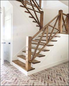 Treppenhaus-Design-Ideen Architecture New Staircase Design . - Dream Home - haus neu mobel New Staircase, Staircase Railings, Staircase Design, Staircase Ideas, Entryway Stairs, Basement Stairs, Kitchen Near Stairs, Staircases, Cottage Staircase