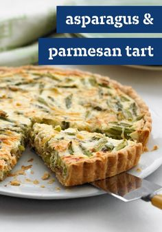 Asparagus & Parmesan Tart – Your turn to host brunch? No problem. Our creamy asparagus tart is packed with cheesy flavor. It's a tastier take on your morning egg bake.