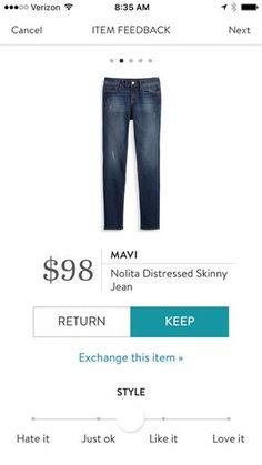 Mavi Nolita Distressed Skinny Jean. I love Stitch Fix! A personalized styling service and it's amazing!! Simply fill out a style profile with sizing and preferences. Then your very own stylist selects 5 pieces to send to you to try out at home. Keep what you love and return what you don't. Only a $20 fee which is also applied to anything you keep. Plus, if you keep all 5 pieces you get 25% off! Free shipping both ways. Schedule your first fix using the link below! #stitchfix @stitchfix…