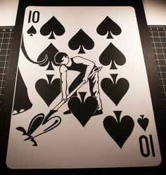 2 feet tall paper-cut playing card. The Sawdust deck. www.emmanueljose.com
