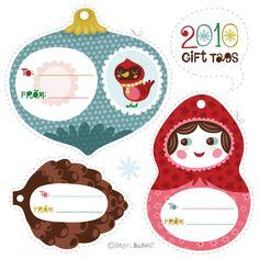 Christmas gift tags. #Printables