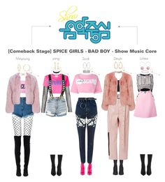"""[Comeback Stage] SPICE GIRLS - BAD BOY - Show Music Core"" by spicegirls-official ❤ liked on Polyvore featuring GCDS, Jeffrey Campbell, Alexander Wang, Charlotte Russe, Motel, Alberta Ferretti, Topshop, Chanel, Ross-Simons and Balenciaga"