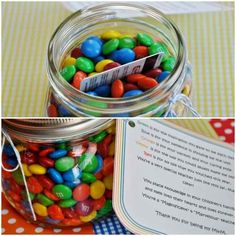 M&M Jar | 24 Cute And Clever Ways To Give A Gift Card
