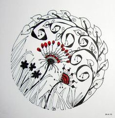 No Matter Where I go...I ALWAYS Meet Myself There!: Zentangles and Doodles by Jo from NZ. More great work here.