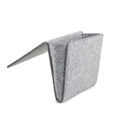 Kikkerland Pocket Bed, Boiled Wool, Grey, 22x 33x 4cm