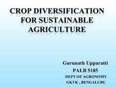 Regarding crop diversification in Indian Agriculture Agriculture, Sustainability, Indian, Sustainable Development, Indian People, India