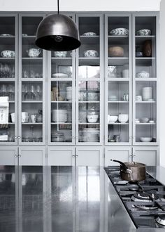 love the wall of cabinets