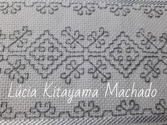 Lúcia Kitayama Machado Bordados Feitos à mãos. Kasuti Embroidery, Swedish Embroidery, Hand Embroidery Art, Silk Ribbon Embroidery, Embroidery Stitches, Embroidery Patterns, Blackwork Patterns, Cross Stitch Patterns, Cross Stitch Bookmarks