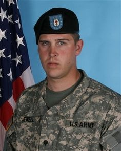 Spc. Steven R. Jewell. 1st Battalion, 52nd Aviation Regiment, Task Force 49 of Fort Wainwright, Alaska. SPC Jewell was 26 years old and from Bridgeton, North Carolina. He died August 14, 2007 when his helicopter crashed in Taqaddum, Iraq.