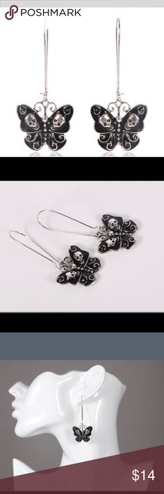 🖤Last Pair🖤 Enchanted Butterfly Earrings These drop earrings are a perfect mix of elegance and edgy.  Last Pair! Jewelry Earrings