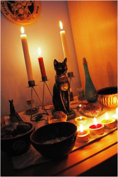Alter for Goddess Bast.