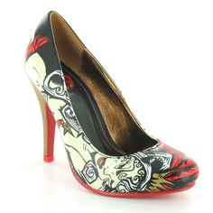 stiletto shoes | ... Womens High Stiletto Heel Court Shoes - Black, White, Red & Gold