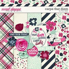Monday's Guest Freebies ~ Sweet Shoppe Designs ✿ Follow the Free Digital Scrapbook board for daily freebies: https://www.pinterest.com/sherylcsjohnson/free-digital-scrapbook/ ✿ Visit GrannyEnchanted.Com for thousands of digital scrapbook freebies. ✿  Carpe That Diem by Traci Reed