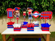 Image result for london themed table centerpiece