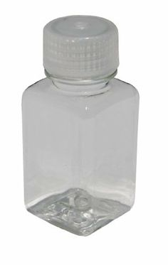 Vestil BTL-SW-2C Wide-Mouth Polyethylene Terephthalate (PET) Square Plastic Bottle with Natural Cap, 2 oz Capacity, Clear by Vestil. $2.70. Vestil general-purpose plastic bottle for storage. Bottle and cap are constructed of FDA compliant materials. This oversized wide-mouth is a natural high density polyethylene (HDPE) bottle with a standard threaded high density polyethylene (HDPE) cap with ethylene vinyl acetate (EVA) liner. Designed for easy access to contents an...