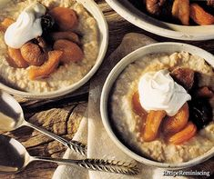 Oatmeal Porridge and Compote of Dried Fruit