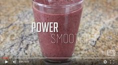 Power Smoothie Recipe. Here's what I make when I want a super yummy, super fast way to get some energy! [video recipe]