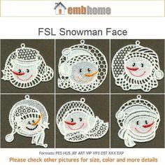 Visage de bonhomme de neige FLS - debout dentelle Machine Embroidery Designs instantanée Téléchargement gratuit des dessins du cerceau 4x4 10 SHE1701