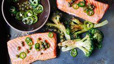 Uma combinação perfeita: Salmão e brócolos!