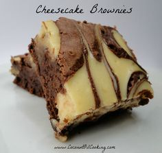 Homemade Cheesecake Brownies - Great for Valentine's Day!