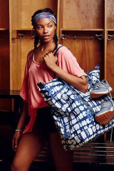Freestyle Fit Tote | Free people This oversized tie-dye printed tote is perfect for carrying to the gym, the beach, or for an overnight get-a-way.
