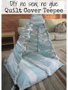 DIY no sew no glue quilt cover teepee