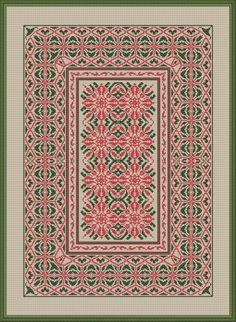 Work Cross Stitch Embroidery, Embroidery Patterns, Cross Stitch Patterns, Big Rugs, Palestinian Embroidery, Carpet Design, Perler Beads, Needlepoint, Fabric Design