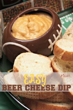 Make this easy beer cheese dip. It's perfect for the big game, or to be honest, anytime! ad