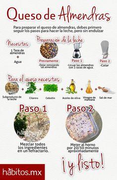 Queso de Almendras #hábitosmx #salud #health #hábitos