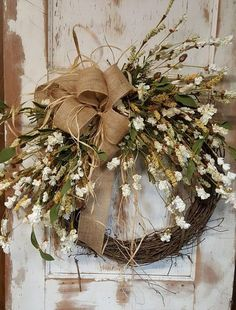 Fall Front door wreath, Wreath for front door- Wreath Great for All Year Round - Everyday Burlap Wreath, Door Wreath by FarmHouseFloraLs on Etsy